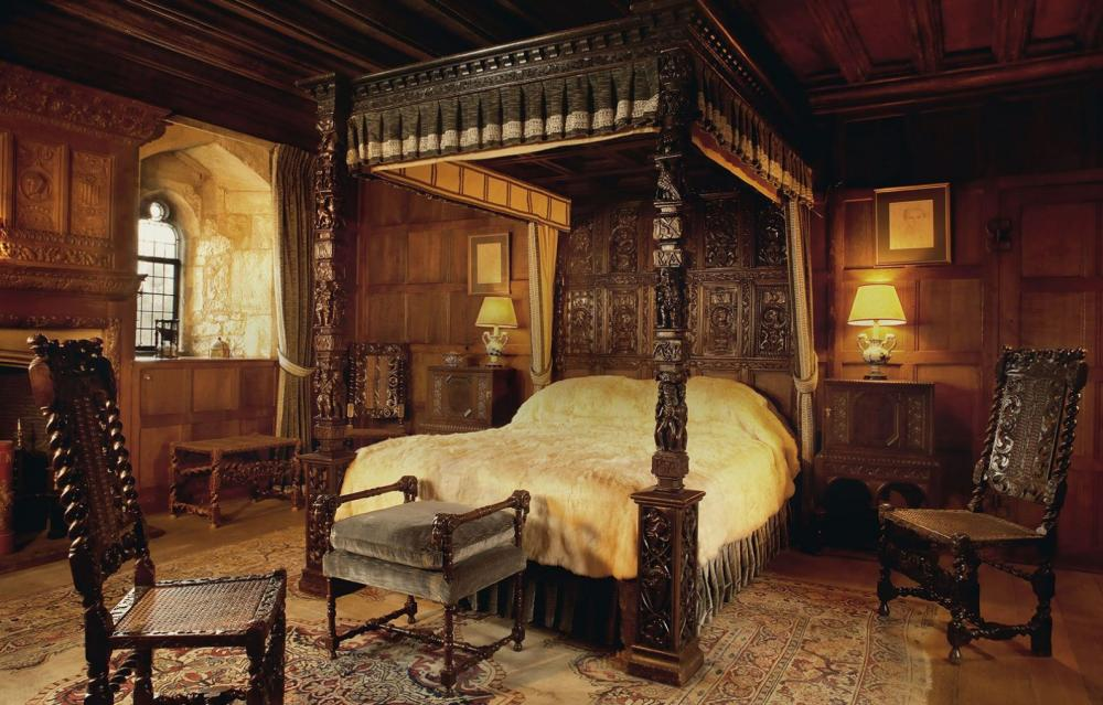The castle has been meticulously maintained with its original features and furniture still intact.
